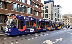 Hier Overstappen (Peter ( phonepics only) Eijkman) Tags: amsterdam city combino colorbino gvb tram transport trams tramtracks trolley rail rails strassenbahn streetcars nederland netherlands nederlandse noordholland holland