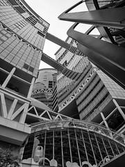Fusionopolis Buildings, Singapore (Jack Heald) Tags: fusionopolis buildings lines blackandwhite bw singapore heald jack sony rx100 rx100m6 rx dscrx100 graphics travel cityscape architecture