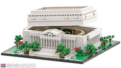 Micro Lego National Archives Building (3) (BenBuildsLego) Tags: lego architecture column columns museum neoclassical classical style benbuildslego national archives washington dc toy legos render 3d cool mini micro microscale scale america usa american building