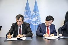 12193s9728 (FAO News) Tags: fao headquarters rome italy signing agreement centroagroalimentarediroma car mercatigenerali generalmarkets directorgeneral qu