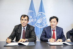 12193s9734 (FAO News) Tags: fao headquarters rome italy signing agreement centroagroalimentarediroma car mercatigenerali generalmarkets directorgeneral qu