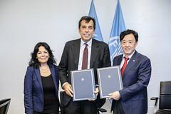 12193s9754 (FAO News) Tags: fao headquarters rome italy signing agreement centroagroalimentarediroma car mercatigenerali generalmarkets directorgeneral qu