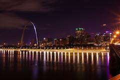 St. Louis Riverfront (EEngler) Tags: 2019 arch gatewayarch stlouisarch stlouis eadsbridge stlouisskyline mississippiriver nightphotography river reflections riverfront