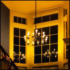 Stairway Bay (Timothy Valentine) Tags: 1219 large restaurant reflection wednesday atethere 2019 window chandelier raynham massachusetts unitedstatesofamerica
