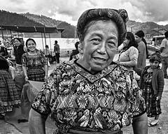 Woman at the market (Skeudenner Yann) Tags: woman people travel blackandwhite quetzaltenango guatemala market portrait originalphotography skeudenner street