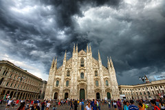 Cloudy Duomo (Pat Charles) Tags: milan milano lombardia lombardy italy italia europe travel tourism architecture architectural nikon clouds cloudy storm stormy mood moody dark rain thunder cathedral catholic church duomo 1001nightsthenew 1001nights 1001nightsthenewmagiccity 1001nightsmagicwindow
