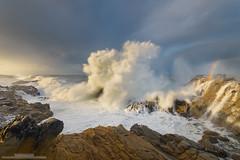 Power and Grace (michael ryan photography) Tags: wave highsurf stormlight storm rain california californiacoast rainbow splash stormy dramatic light sonoma sonomacoast michaelryanphotography