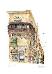 Valletta, Malta (wanstrow) Tags: malta valletta jewellery drawing green shop illustration