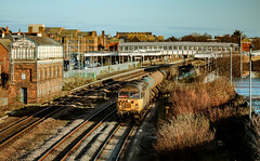 A Question Of Regulation? (darkprince66 (Tug Chasing Super Hero :D)) Tags: rhyl wales networkrail rhtt railheadtreatmenttrain colasrailfreight grids class56 56105 56096 railway train locomotive