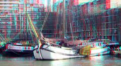 Leuvehaven Rotterdam 3D (wim hoppenbrouwers) Tags: leuvehaven rotterdam 3d anaglyph stereo redcyan