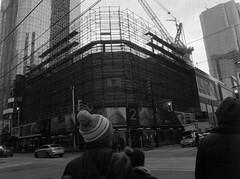 Two/Queen (Alex Luyckx) Tags: toronto ontario canada downtown urban metro streets random afternoon cloudy winter christmas wandering walk mamiya mamiyam645 m645 slr 120 645 6x45 mediumformat mamiyasekorc45mm128n foma fomapan fomaretropan320 retropan320 asa320 kodak kodakd76 d76 stock 10 gossenlunasixf epsonv700 adobephotoshopcc bw blackwhite film filmphotography believeinfilm filmisalive filmisnotdead
