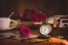 Take time to reflect (Chapter2 Studio) Tags: stilllife sonya7ii soft solitude flower floral warm coffee chapter2studio calm classic cup pocketwatch memories reflect time keys