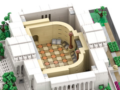 Micro Lego National Archives Building (Interior) (BenBuildsLego) Tags: lego architecture column columns museum neoclassical classical style benbuildslego national archives washington dc toy legos render 3d cool mini micro microscale scale america usa american building