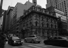 The Embassy (Alex Luyckx) Tags: toronto ontario canada downtown urban metro streets random afternoon cloudy winter christmas wandering walk mamiya mamiyam645 m645 slr 120 645 6x45 mediumformat mamiyasekorc45mm128n foma fomapan fomaretropan320 retropan320 asa320 kodak kodakd76 d76 stock 10 gossenlunasixf epsonv700 adobephotoshopcc bw blackwhite film filmphotography believeinfilm filmisalive filmisnotdead