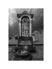 Jesus called a little child (G. Postlethwaite esq.) Tags: bw belperboneyard dof unlimitedphotos blackandwhite cemetery depthoffield graveyard monochrome photoborder selectivefocus
