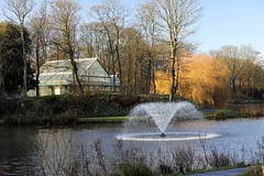 Hesketh park (eleutheromaniac) Tags: parks pathway water fountain autumn canon greenhouse green colours 70200mm brown