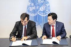 12193s9740 (FAO News) Tags: fao headquarters rome italy signing agreement centroagroalimentarediroma car mercatigenerali generalmarkets directorgeneral qu
