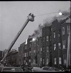 """1970-12-09-BK-44-3756 (3) (Official New York City Fire Department (FDNY)) Tags: fdny fire firefighting 1970s vintage """"throwback thursday"""" tbt """"fire engine"""" truck"""" water nyc ladder truck """"new york city"""" building suppression"""" firefighter rescue smoke flames brooklyn"""