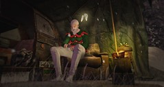 Sad Xmas... (ThiegoFire) Tags: boy man men art signature handsome sorumin christmas snow cold night photoshop photography photo sad style sl event secondlife shelter anthem 2019 catwa exclusive