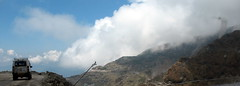 Top of world (viveksanand) Tags: jeep transport vehicle nature clouds mountain