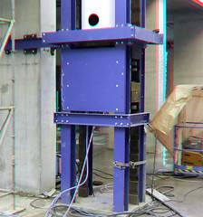 Vijzel Zalmhaventoren Rotterdam 3D (wim hoppenbrouwers) Tags: vijzel zalmhaventoren rotterdam 3d anaglyph stereo redcyan