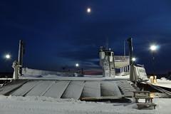 steps (~Jim Peacock~) Tags: moon winter december wisconsin bayfield night snow dusk lakesuperior madelineisland