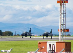 xxx161+XX256  British Aerospace  Hawk T.1W prestwick Scotland 2019 (seifracing) Tags: united kingdom royal navy xxx161xx256 british aerospace hawk t1w prestwick scotland 2019 seifracing spotting services strathclyde scottish security seif show emergency europe ecosse rescue recovery road transport traffic avion aviation