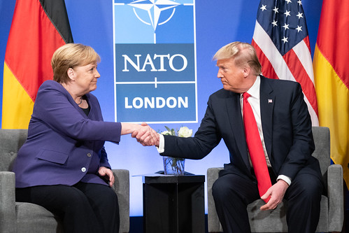 President Trump Meets with the Chancellor of the Federal Republic of Germany