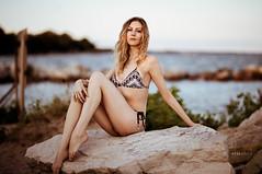 Kristen (Ray Akey - Photographer) Tags: blonde pretty sexy woman girl attractive bikini swimwear beach cedar pose female lady