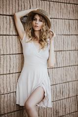 Kristen (Ray Akey - Photographer) Tags: blonde pretty sexy lady hat dress female leg model photoshoot