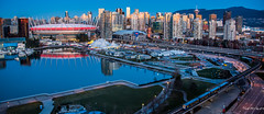 2019 - Vancouver - Sunrise (Ted's photos - Returns Early February) Tags: 2019 bc cropped nikon nikond750 nikonfx tedmcgrath tedsphotos vancouver vancouverbc vancouvercity vignetting sunrise eastfalsecreek falsecreek falsecreekeast water reflection waterreflection rogersarena bcplace bcplacestadium cirquedusoleil skytrain viaduct georgiastreetviaduct dunsmierviaduct tents highrise seawall bctransit wideangle widescreen cans2s
