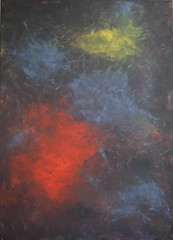 Clouds (Kate O'Kina) Tags: clouds gallery kateokina colouful painter painting forsale canvas red blue dark light abstract art artist abstractionism contemporary modern abstractart