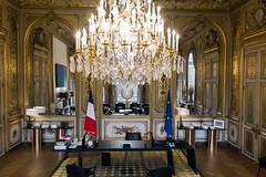 2019-11-22 Salon Doré -NON DIFFUSABLE  A LA PRESSE- (Elysée - Présidence de la République) Tags: élysée salondoré bureauprésident drone vueaérienne