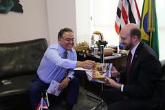 Encontro com o embaixador em exercício dos EUA