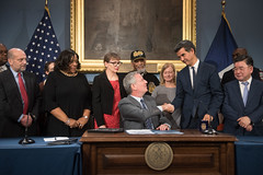 Public hearing for and sign Intros. 906-A, 909-B, 1559-A, and 1580-A regarding the future of Hart Island. (nycmayorsoffice) Tags: bill signing bills burial corrections parksdepartment newyork ny usa