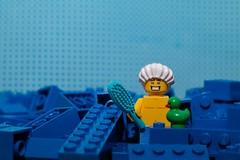 [49-52X] - Texturas 4/4 - Artificial (Marmotuca) Tags: lego 52x textura plástico piezaslego azul baño patito