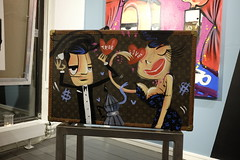 Louis Vuitton (Päivi ♪♫) Tags: norway oslo artgallery artist painting retro suitcase november louisvuitton
