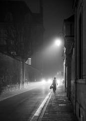 A certain friday... / Un certain vendredi... (PhlippeC.) Tags: monochrome blackwhite noiretblanc reims marne urban street lights fog lumière brouillard rue phare stphotographia