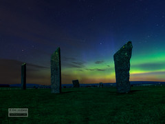 Stones of Stenness (SavikAlba) Tags: orkney stenness standing stones stone circle northern lights aurora borealis