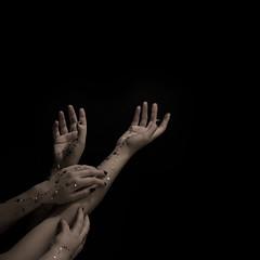 Reaching for the stars (Rand0mmehere) Tags: linnea people woman art pose square person under mysterious eriksson kajsa lial enkajsa albrechtsson rand0mmehere linneaalbrechtsson shadow black beautiful dark hands key hand darkness arms arm low dream creepy artsy human lowkey creations blackbackground night body alfa a37