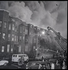 """1970-12-09-BK-44-3756 (2) (Official New York City Fire Department (FDNY)) Tags: fdny fire firefighting 1970s vintage """"throwback thursday"""" tbt """"fire engine"""" truck"""" water nyc ladder truck """"new york city"""" building suppression"""" firefighter rescue smoke flames brooklyn"""