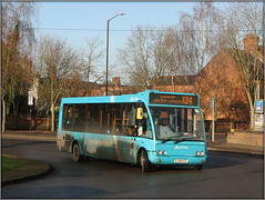 Filthy Solo (Jason 87030) Tags: blue filth fgrim dirty optare solo arriva midlands 2410 sunny roadside december 2019 shot x84 service route mucky wheels grime
