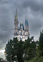 Cinderella's Castle (syd.mae) Tags: disney adobe photoshop photography depthoffield dreary dreamlike detail architecture photographer nikon
