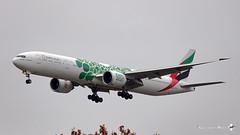 "Boeing B777-31H(ER), Emirates livrée ""EXPO2020"" Vert, A6-EPI (maxguenat) Tags: lsgg gva cointrin spotter spotting avion aircraft airplane atterrissage b77731her expo2020 emirates expo2020vert"