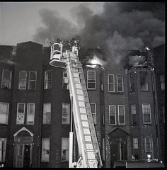 """1970-12-09-BK-44-3756 (4) (Official New York City Fire Department (FDNY)) Tags: fdny fire firefighting 1970s vintage """"throwback thursday"""" tbt """"fire engine"""" truck"""" water nyc ladder truck """"new york city"""" building suppression"""" firefighter rescue smoke flames brooklyn"""