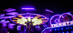Fairground (Jodie Middleton) Tags: purple night nightphotography longexposure neon lights lighting nighttime colour colourful fair fairground