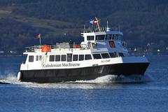 MV Ali Cat - Gourock - 30-11-19 (MarkP51) Tags: mvalicat gourock firthofclyde scotland caledonianmacbrayne ferry calmac ship boat vessel sea nikon d500 nikonafp70300fx sunshine sunny spray