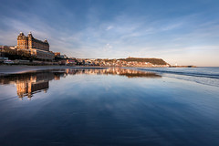 Scarborough Mirrored (Derwisz) Tags: scarborough southbay sea seaside seascape england englandseastcoast nothyorkshire yorkshire shore beach reflection canoneos40d grandhotel