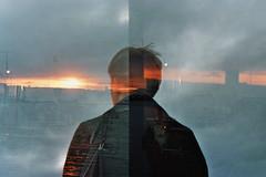 (forglemmegei analog) Tags: canon av1 analog film grain doubleexposure double exposure sunset arctic fishing boat boats goldenhour golden hour kodak gold 200