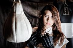 DSCF6584-1-7 (dec2bois) Tags: boxe marie portrait indoors beautiful woman exercising boxing